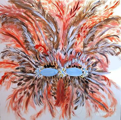 Mardi Gras Painting - Feather Mask by Marie Bulger