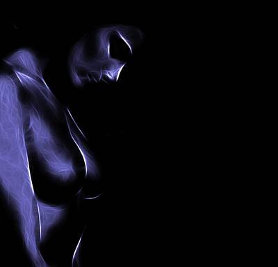 Sex Digital Art - Feeling Blue by Steve K