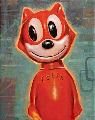Pop Icon Painting - Felix The Cat by Shawn Shea