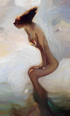 Naked Painting - Female Motion by Stefan Kuhn