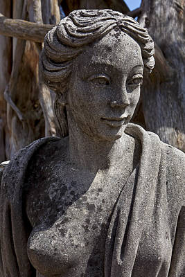 Human Head Photograph - Female Statue by Garry Gay