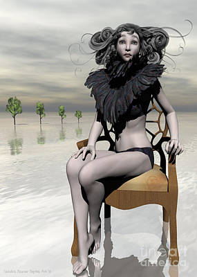 Femme Avec Chaise Print by Sandra Bauser Digital Art
