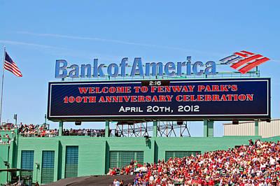 Boston Photograph - Fenway's 100th by Joann Vitali