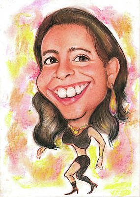 Shakira Drawing - Fer Cartoonized As Shakira by CartoonizeAPicture