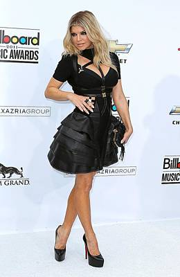 Full Skirt Photograph - Fergie Wearing A Herve Leger By Max by Everett