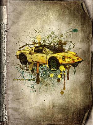 Ferrari Dino 246 Gts Print by Svetlana Sewell