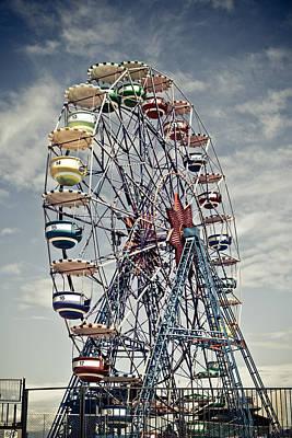Ferris Wheel Print by Alex Anashkin