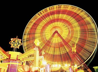 Adventuresome Photograph - Ferris Wheel And Other Rides, Derry by The Irish Image Collection