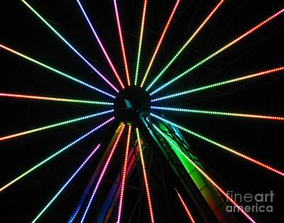 Abstract Digital Light Trails Photograph - Ferris Wheel by Peter Piatt