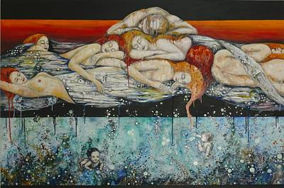 Women Painting - Fertilitydreams by Dreja Novak