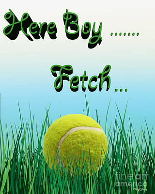 Fetch Print by Cheryl Young