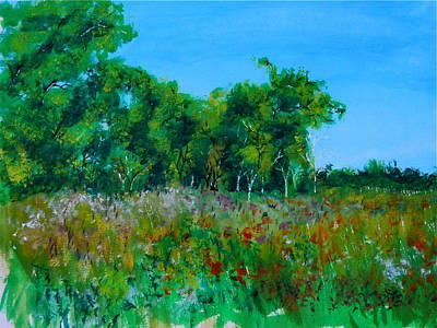 Nature Painting - Fields Back Home by Michael Brennan