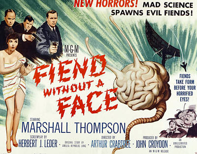 Fiend Without A Face, 1958 Print by Everett