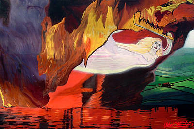 Fiery Baptize Print by John Paul Blanchette