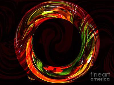 Fiery Circle Print by Cheryl Young