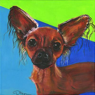 Pooch Painting - Fifi by Debbie Brown