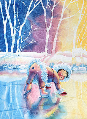 Illustration For Childrens Book Painting - Figure Skater 12 by Hanne Lore Koehler