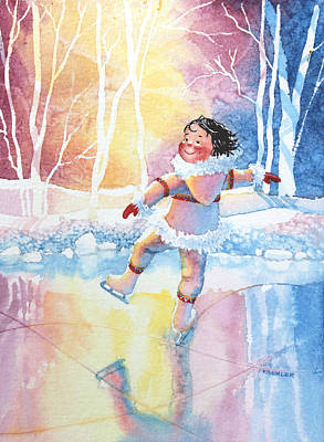 Illustration For Childrens Book Painting - Figure Skater 13 by Hanne Lore Koehler