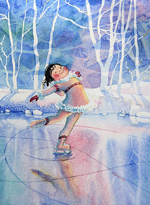 Illustration For Childrens Book Painting - Figure Skater 14 by Hanne Lore Koehler