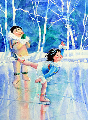 Illustration For Childrens Book Painting - Figure Skater 15 by Hanne Lore Koehler