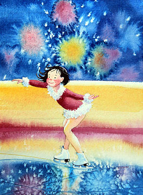 Illustration For Childrens Book Painting - Figure Skater 17 by Hanne Lore Koehler