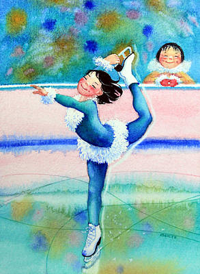 Illustration For Childrens Book Painting - Figure Skater 19 by Hanne Lore Koehler