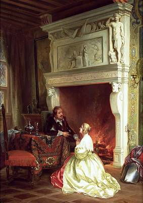 Figures In An Interior  Print by Ary Johannes Lamme