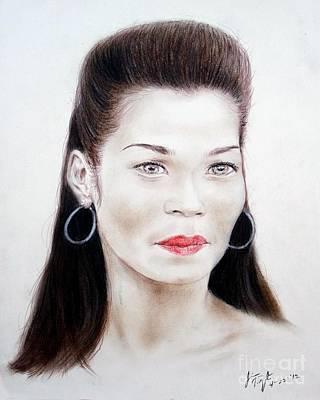 Filipino Drawing - Filipino Comedian Singer And Actress Marietta Subong Aka Pokwang by Jim Fitzpatrick