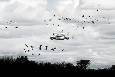 Final Flight Of The Enterprise Print by Tolga Cetin