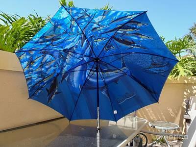 Swordfish Digital Art - Fine Art Umbrella by Carey Chen