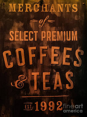 Coffeehouse Photograph - Fine Coffees by Ken Marsh