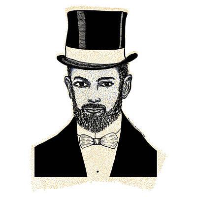 Black Tie Drawing - Fine Scholar by Karl Addison