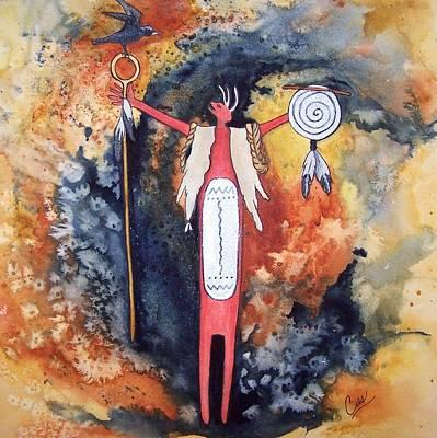 Spirit Catcher Painting - Fire And Brimstone by Karen Casciani