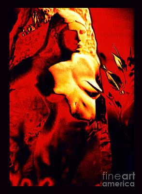 Pele Digital Art - Fire Goddess Pele Of Hawaiian Volcanoes by Susanne Still
