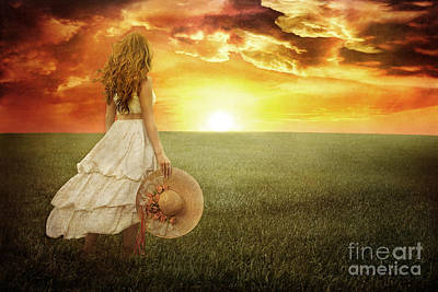 Daydreams Art Photograph - Fire In The Sky by Cindy Singleton