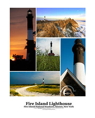 Fire Island Lighthouse Poster Print by Vicki Jauron