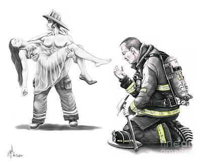 Fire Rescue Print by Murphy Elliott