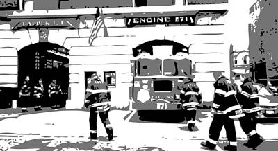 Firehouse Bw3 Print by Scott Kelley