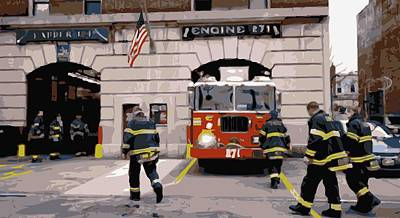Firehouse Color 16 Print by Scott Kelley
