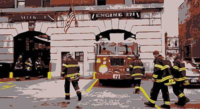 Firehouse Color 6 Print by Scott Kelley