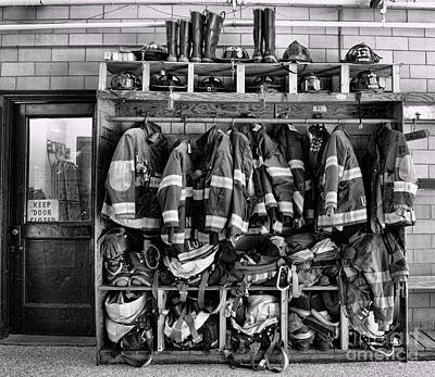 Medical Photograph - Fireman - Jackets Helmets And Boots by Paul Ward