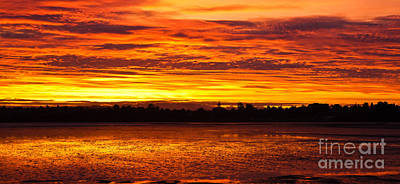 Firery Sunset Sky Print by John Buxton