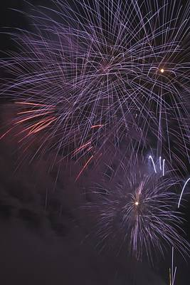 Fireworks, Crowsnest Pass, Alberta Print by Michael Interisano