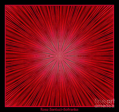 4th Of July Photograph - Fireworks Kaleidoscope 14 by Rose Santuci-Sofranko