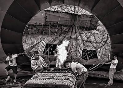 Firing The Burners Print by Bob Orsillo