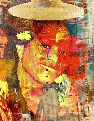 Strong America Mixed Media - First Lady - The Republic In Mind by Fania Simon