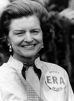 First Lady Betty Ford Wears A Badge Print by Everett