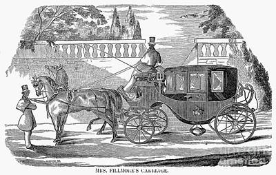 Abigail Photograph - First Lady Carriage, 1851 by Granger