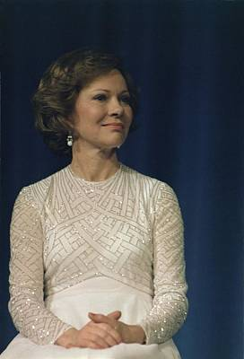 First Lady Roslyn Carter In A White Print by Everett