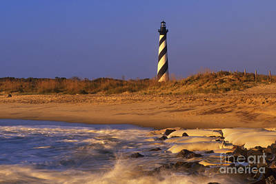 First Light At Cape Hatteras - Fs000257 Print by Daniel Dempster
